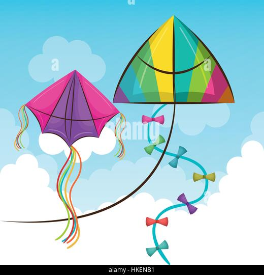 flying kite illustration - photo #31