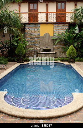 Swimming pool in the hotel colonial in the spanish colonial city of stock photo picture and for What is swimming pool in spanish