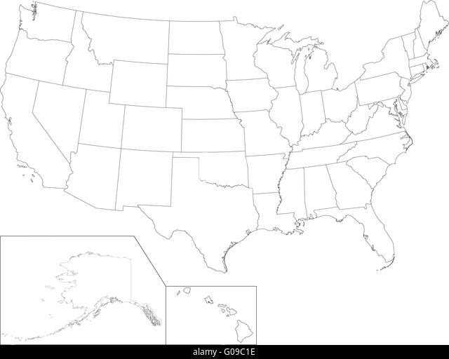 Mexico Map Black And White Stock Photos Images Alamy - Black and white usa map