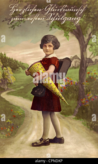 Child With Schultuete Stock Photos & Child With Schultuete ...