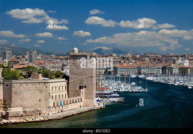 Marseilles old town stock photos marseilles old town - Parking vieux port fort saint jean marseille ...