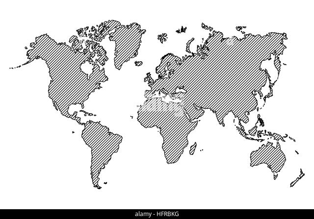 Line drawing world map stock photos line drawing world map stock world map outline and oblique line stock image gumiabroncs Choice Image