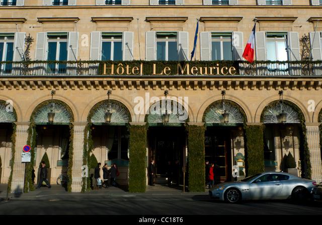 Exterior Of The Famous Hotel Meurice Rue De Rivoli Paris France