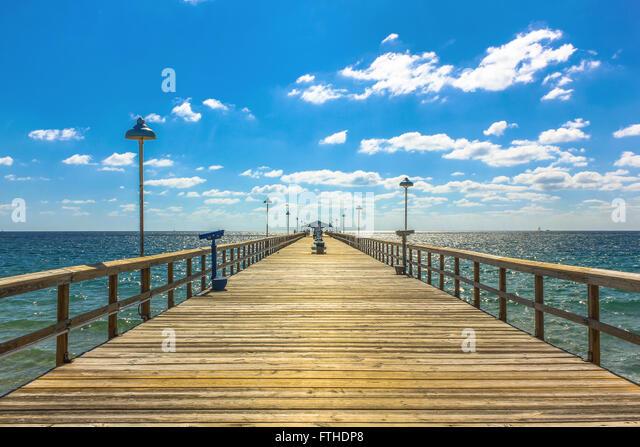 Florida fishing pier stock photos florida fishing pier for Hollywood florida fishing
