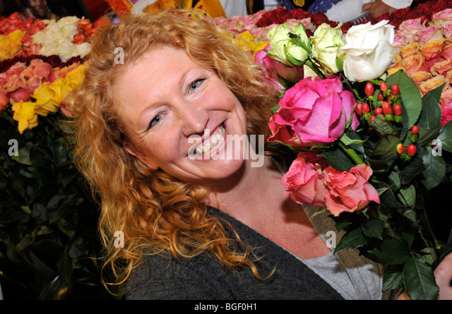 Television Gardener Charlie Dimmock Stock Photos