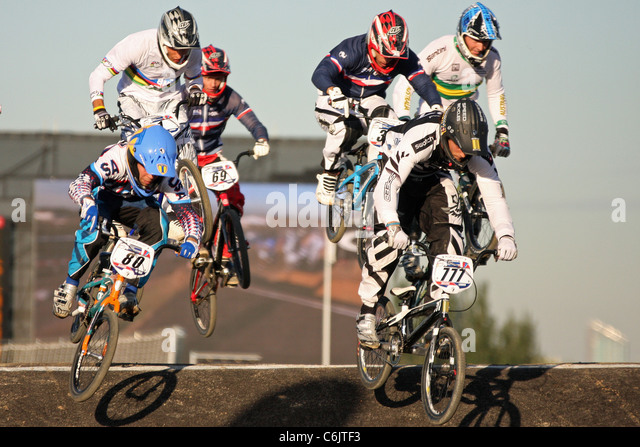 Mens BMX Race At The Olympic Park Test Event For London Prepares Series