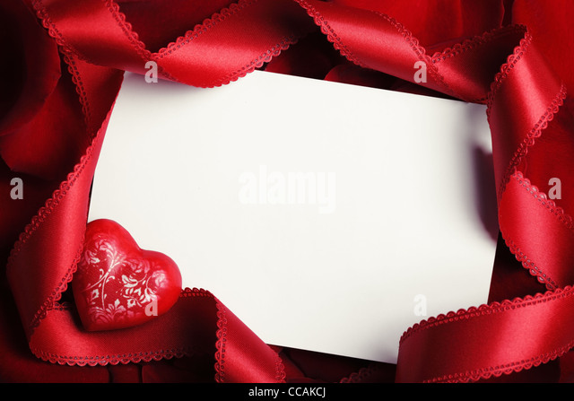 valentines card with blank space stock image - Valentines Greeting