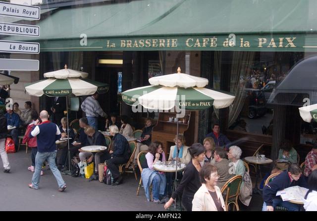 Cafe De La Paix Paris Stock Photos & Cafe De La Paix Paris Stock ...