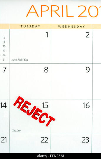 Calendar April Fools : April fools day calendar stock photos