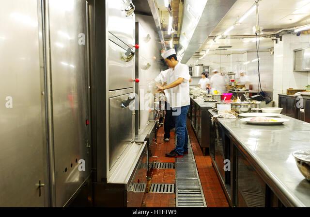 Restaurant Kitchen Staff Busy Work Stock Photos