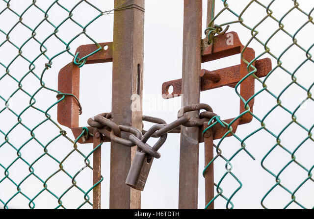 Padlocked Gates Stock Photos Amp Padlocked Gates Stock