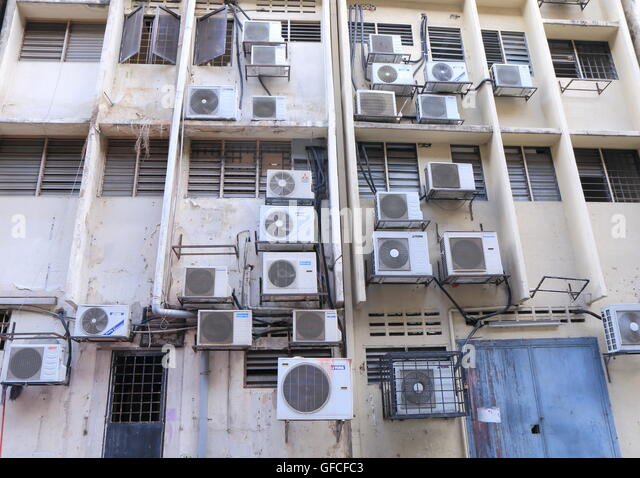 Air Conditioning Unit City Stock Photos & Air Conditioning Unit ...