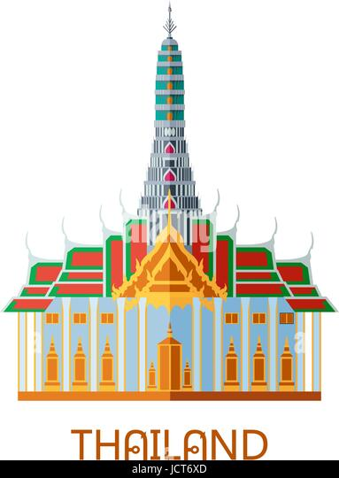 Thai temple clipart