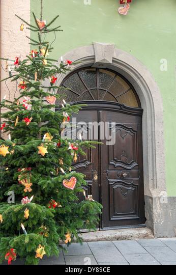 Rothenburg Christmas Market Stock Photos Rothenburg Christmas  - Medieval Christmas Tree