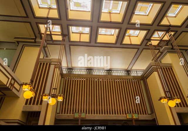 Prairie house stock photos prairie house stock images for Frank lloyd wright interior designs