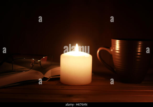 reading candlelight stock photos reading candlelight