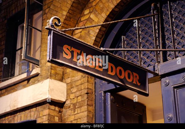 Stage door sign at the Theatre Royal Drury Lane. London. UK 2009. - & Theatre Stage Door Sign Night Stock Photos u0026 Theatre Stage Door ... pezcame.com