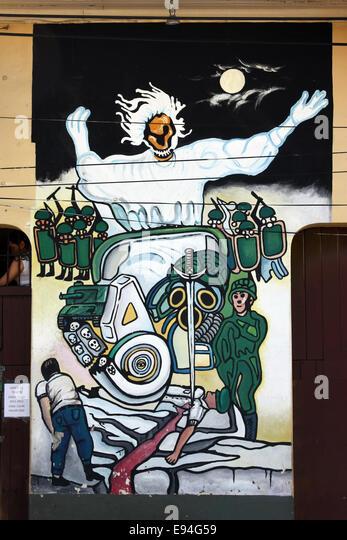 Political mural stock photos political mural stock for Mural nicaraguense