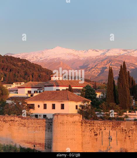 Alhambra Sage Granada Park Alhambra Ca: Sierra Nevada Granada Stock Photos & Sierra Nevada Granada