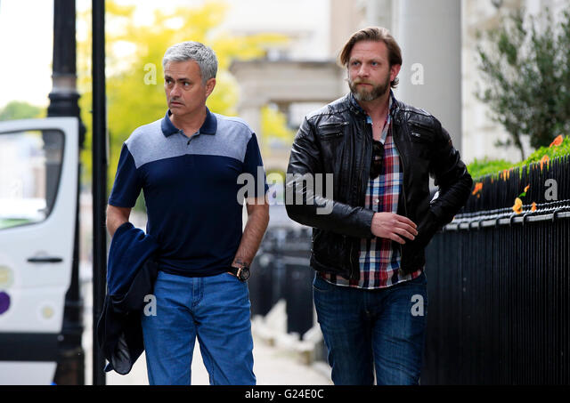 Jose Mourinho Left Pictured Near His London Home