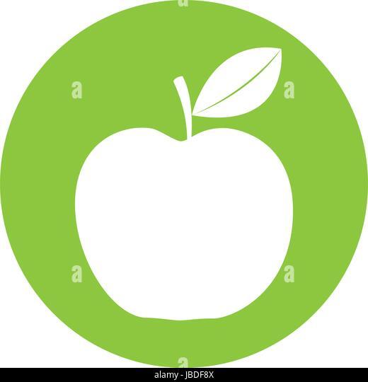 White Half Apple Symbol Icon Stock Photos White Half Apple Symbol