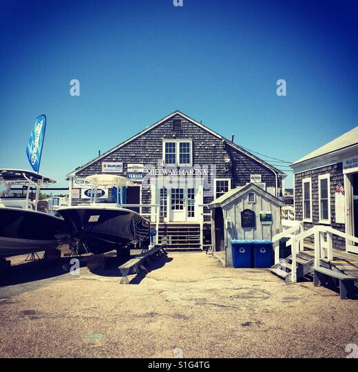 Millway Marina Barnstable Cape Cod Stock Photos & Millway