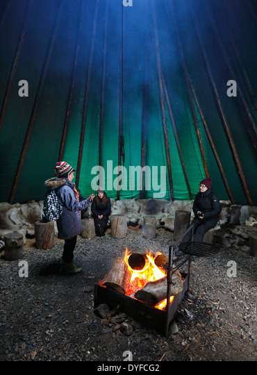 Finland tent - tepee - Stock Image & Conical Tent Stock Photos u0026 Conical Tent Stock Images - Alamy