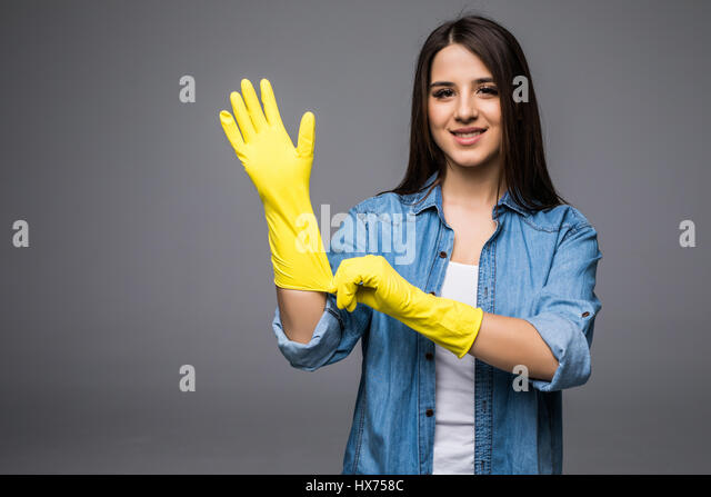 image Cleaning lady ready for more than tidying only