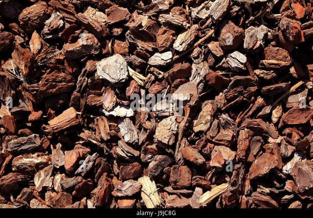 Wood chip bark ground cover stock photos