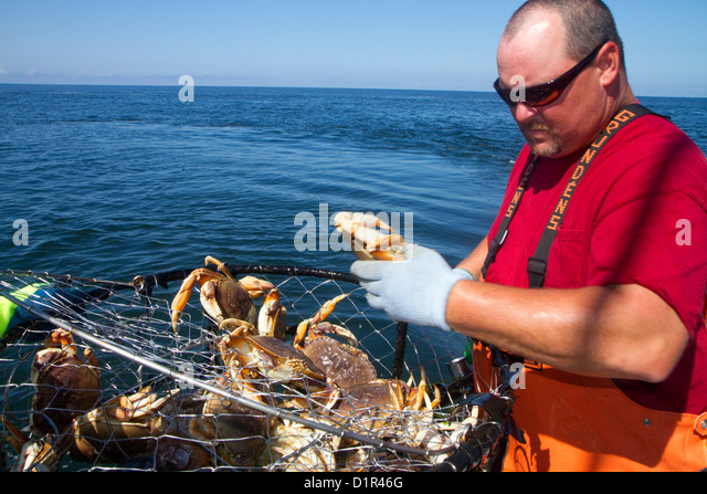Charter vessel stock photos charter vessel stock images for Crab fishing oregon