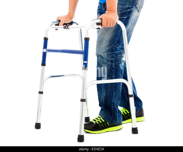 close up of young man on mobility aids   Stock Image. Handicap Aids Stock Photos   Handicap Aids Stock Images   Alamy