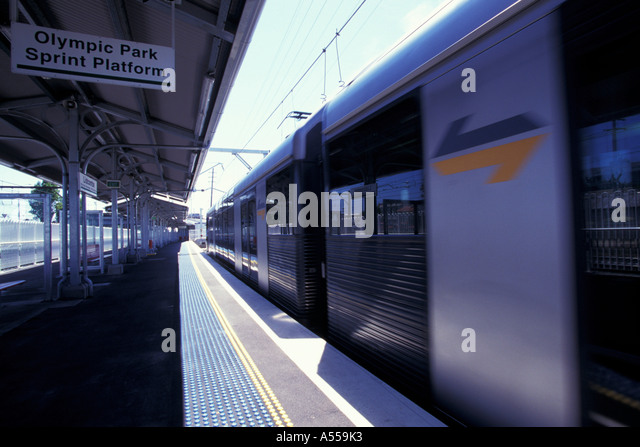 Train To Olympic Park Sydney Australia
