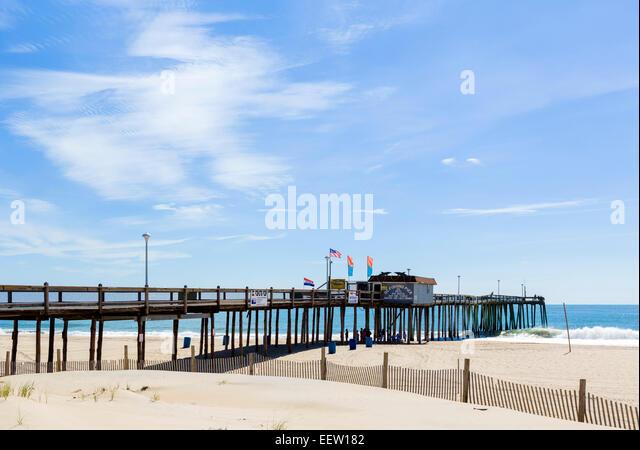 Ocean fishing pier stock photos ocean fishing pier stock for Ocean city md fishing pier