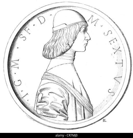 the duke of milan Francesco sforza, duke of milan, who won his principality with difficulty, but held it with ease attribution:bonifacio bembo [public domain], via wikimedia commons.