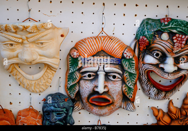 Greek Theatre Masks Stock Photos & Greek Theatre Masks Stock ...