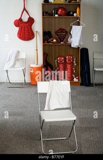 Baseball Equipment Locker Room