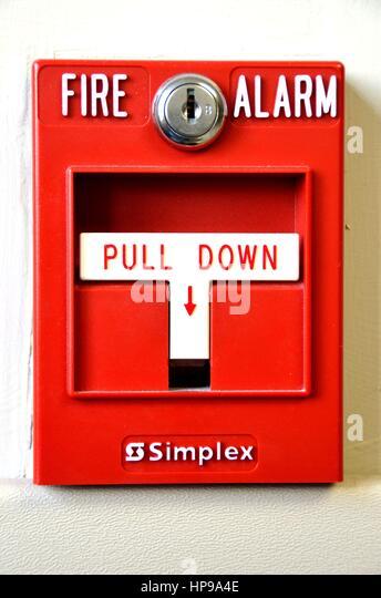 Fire Alarm Documentation : Manual fire alarms stock photos