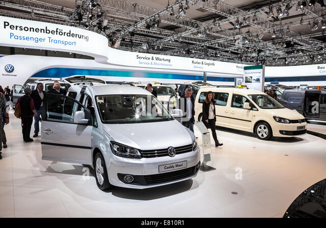 New VW Caddy maxi at the 65th IAA Commercial Vehicles fair 2014 in