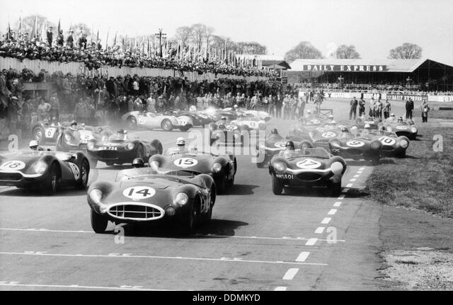 Bon Scene At The Start Of A Sports Car Race, Silverstone, Northamptonshire,  (late