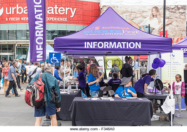 Information tent during the 16th Edition of The Toronto International BuskerFest for Epilepsy started today in & Information Tent Stock Photos u0026 Information Tent Stock Images - Alamy