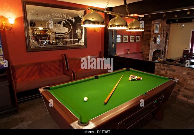 pool table bar. The Swan Inn Pool Table Pub Bar - Stock Image S