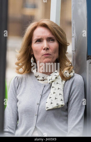 London, UK. 16th July, 2017. Mary Sandell, a headteacher who has just resigned after 29 years in protest against - Stock Image