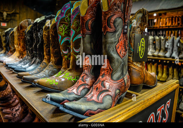 American Style Cowboy Boot Stock Photos & American Style Cowboy ...