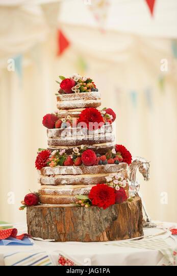 Sunflower Wedding Cake Stock Photos Sunflower Wedding Cake Stock