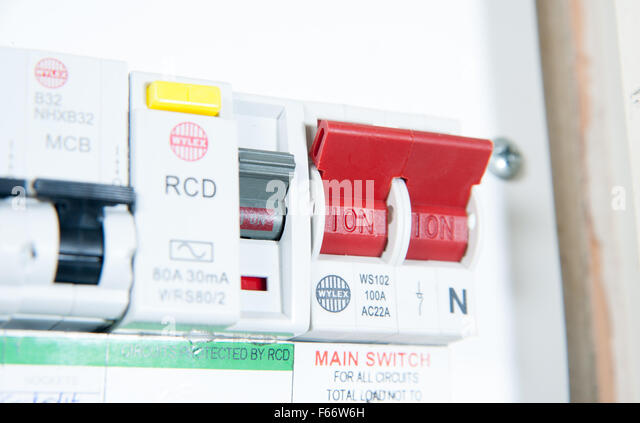 domestic home electrics main fuse box with on off switch uk f66w6h electrics fuse box stock photos & electrics fuse box stock images fuse box switch off at bayanpartner.co