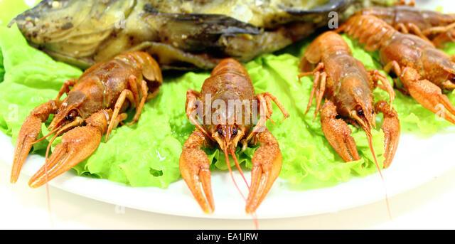 Boiled crayfish stock photos boiled crayfish stock for Fishing with crawfish