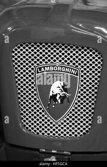 Lamborghini Emblem Black And White Stock Photos Images Alamy