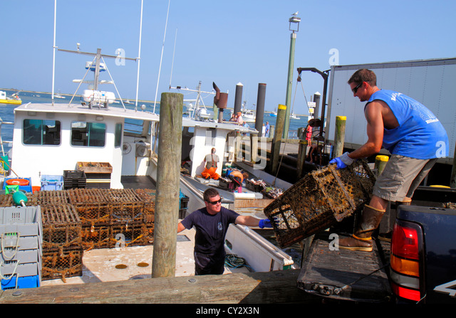 Lobster boat massachusetts stock photos lobster boat for Commercial fishing jobs
