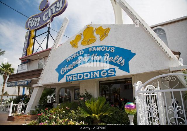 Las Vegas Nevada The Chapel Of Bells Wedding And Fun City Motel