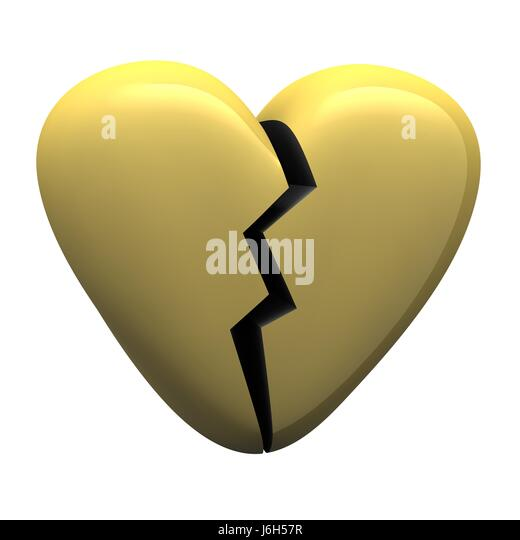 Broken Heart Symbol Breaking Fracture Stock Photos Broken Heart